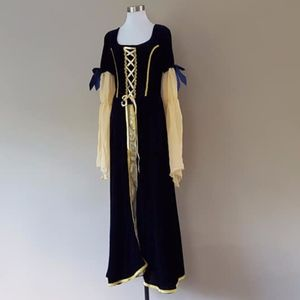 HALLOWEEN Costume Large Navy Blue and Gold